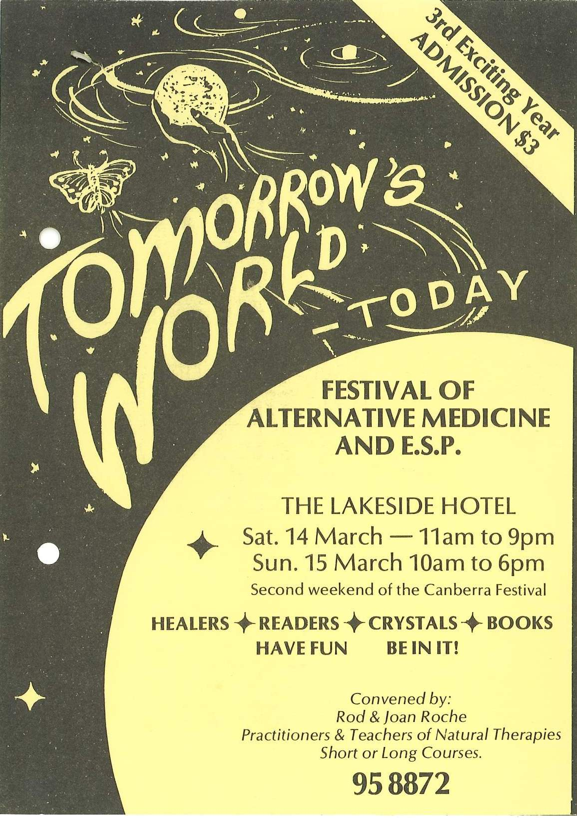Pamphlet advertising the Tomorrow's World Festival
