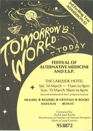 Tomorrow's World Today Festival flier