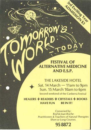 Tomorrow's World Today Festival flier