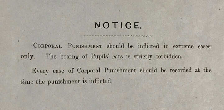 Corporal punishment statement