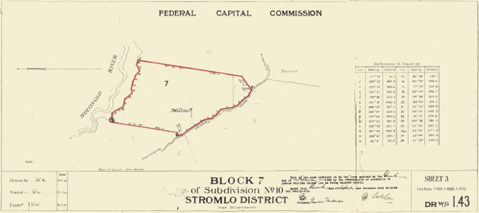 Plan of Stromlo Block 7