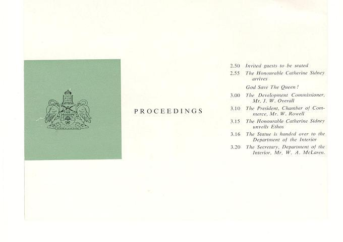 Ethos Unveiling Ceremony Program - Page 1