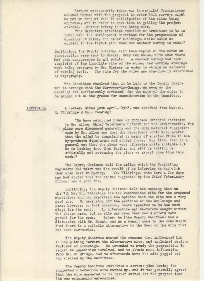 Federal Capital Commission Development Committee : Minutes of 15th General Meetiing - 09/05/1928 - page 4