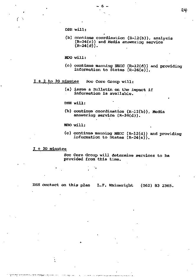 Inter-Departmental Committee for Re-Entry of Satellite : Skylab Re-Entry 1979 - Coorrdination and Operations Plan - Issue No. 1 03/07/1979 - page 6