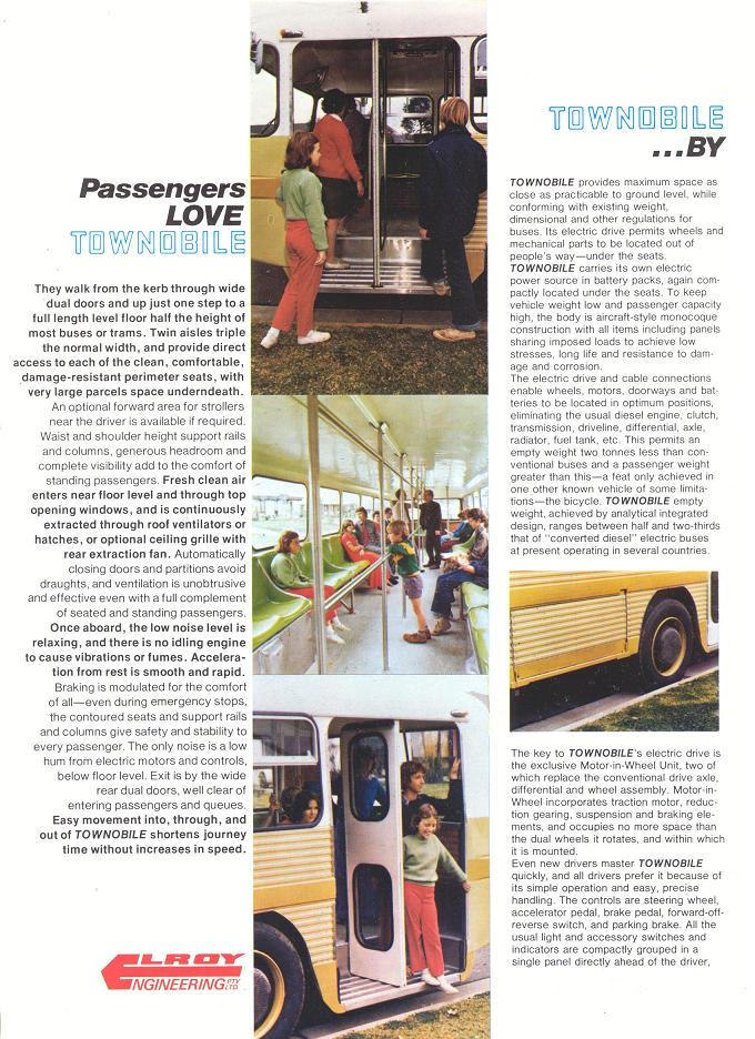 Townobile Electric City Transit System brochure - page 2