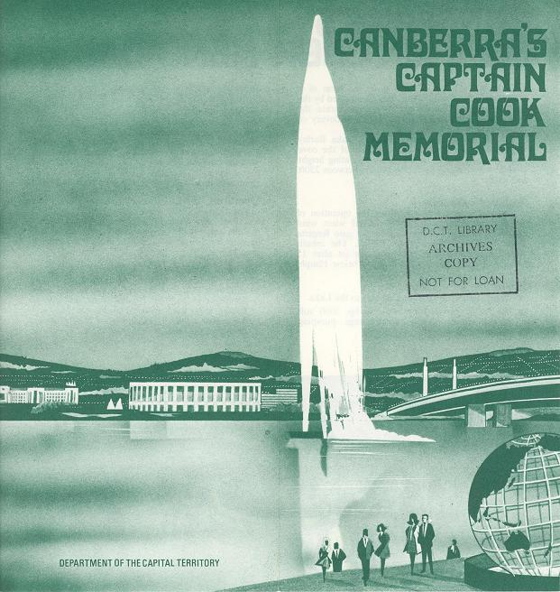 Canberra's Captain Cook Memorial - 1973 Brochure Cover