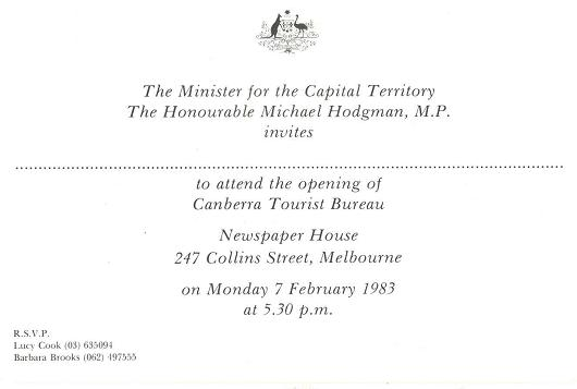 Canberra Tourist Bureau 07-02-1983