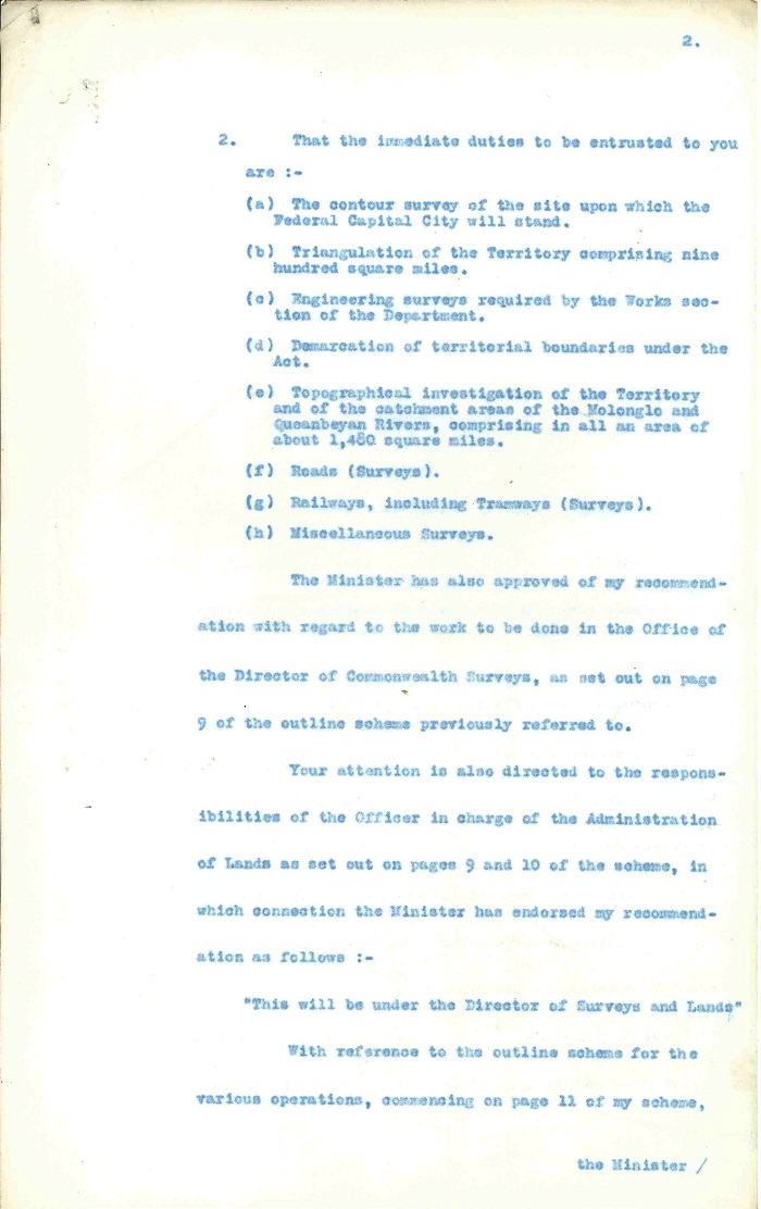 Memorandum to Charles Scrivener from David Miller 14th January 1910 page 2