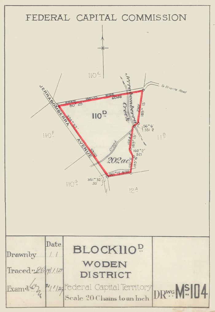 Plan of Woden Block 110D