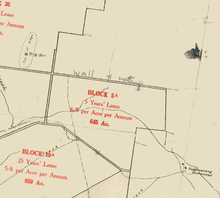 Plan of Lanyon Block 5A in 1920