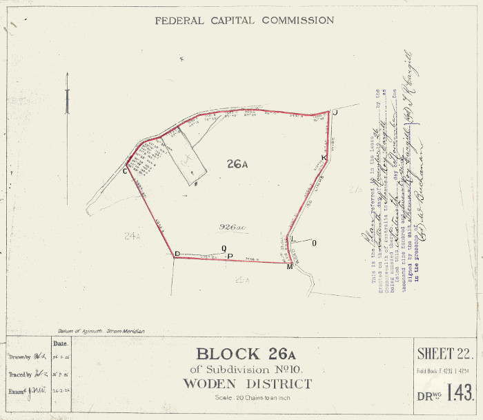 Plan of Woden Block 26A