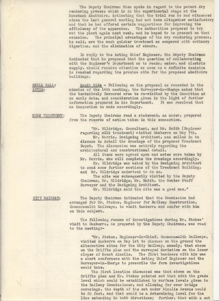 Federal Capital Commission Development Committee : Minutes of 15th General Meetiing - 09/05/1928 - page 5