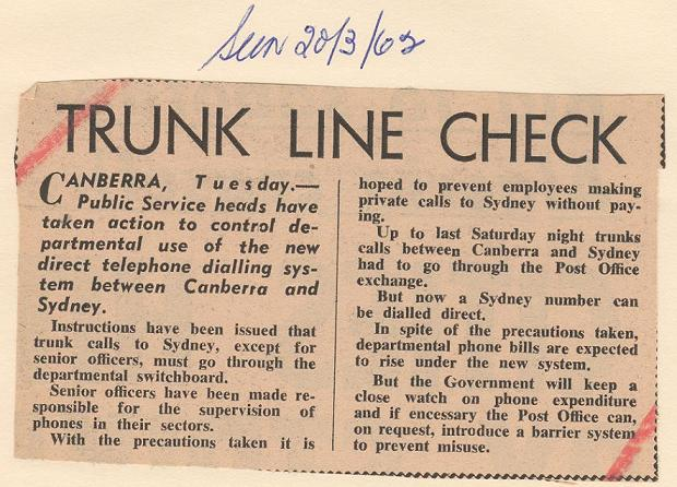 Canberra Times 20/03/1962