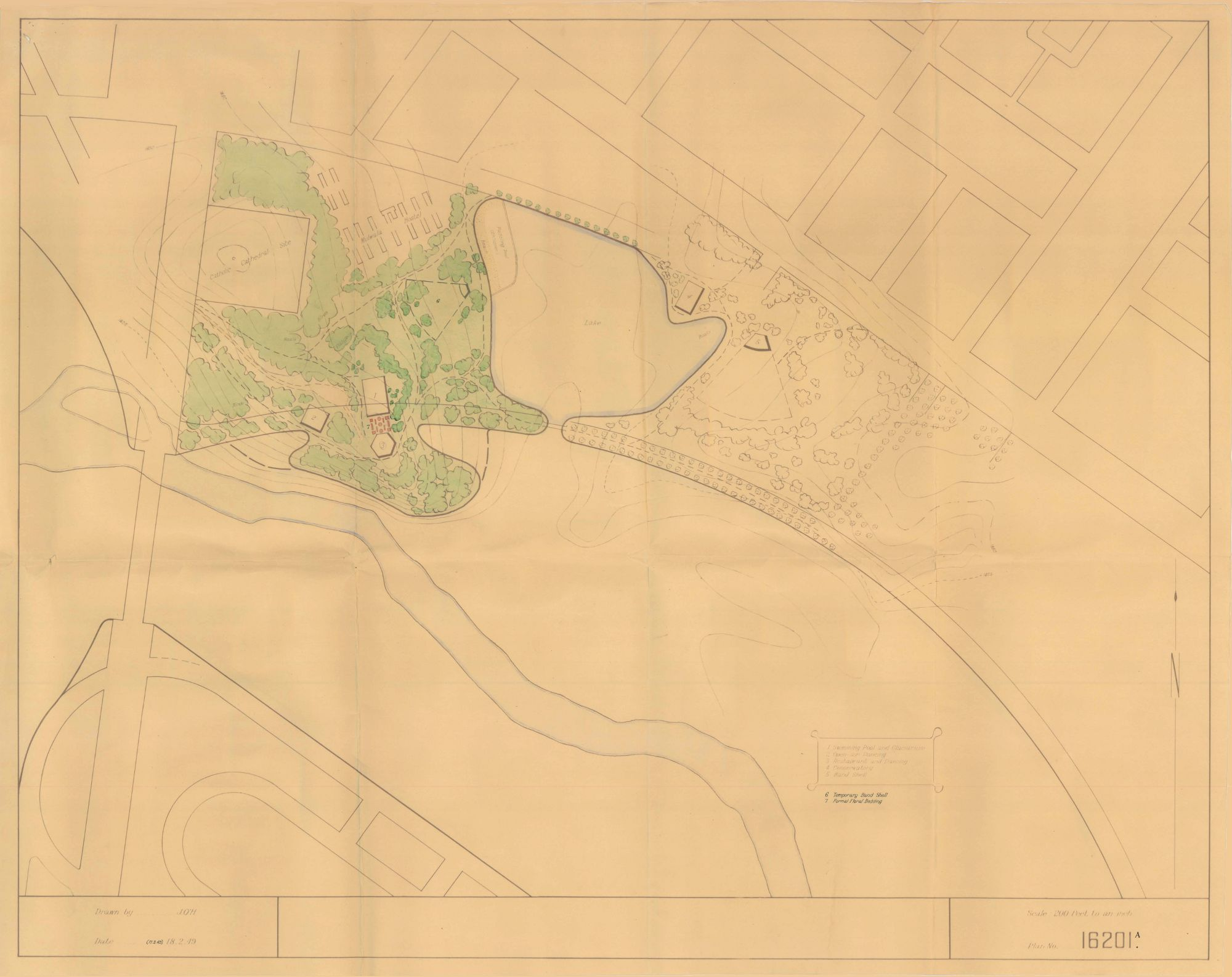 1949 proposal plan for Commonwealth Park 16201A