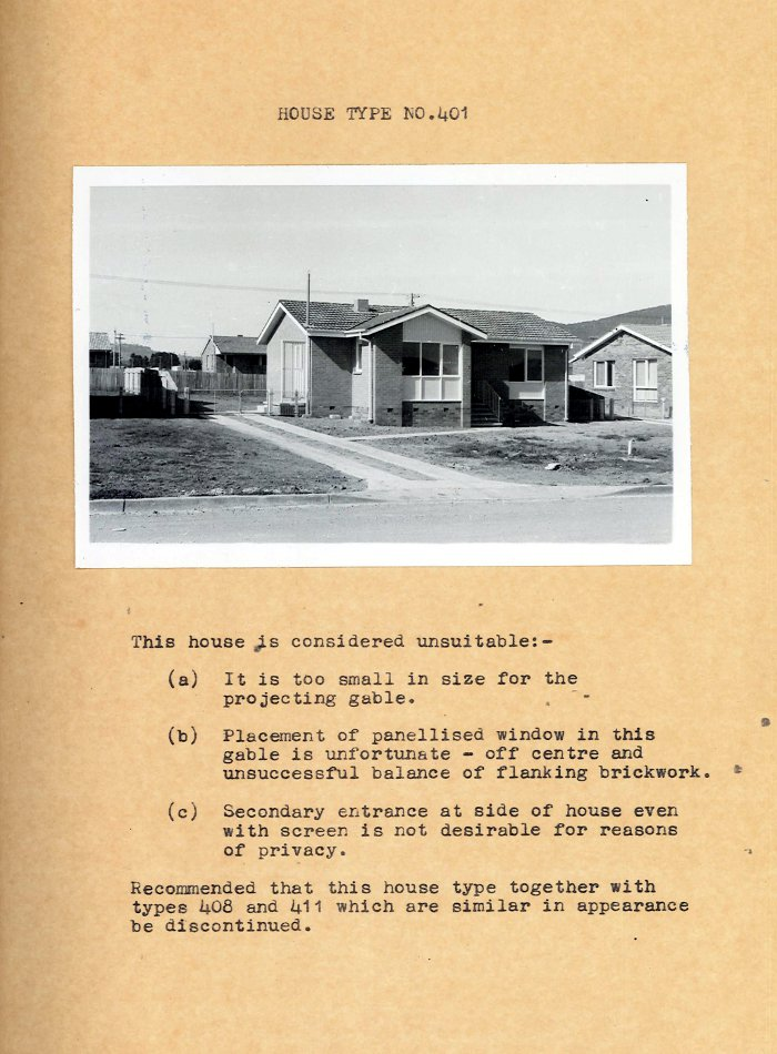 Housing Review 1961 - 400 Series Designs - Type 401 House