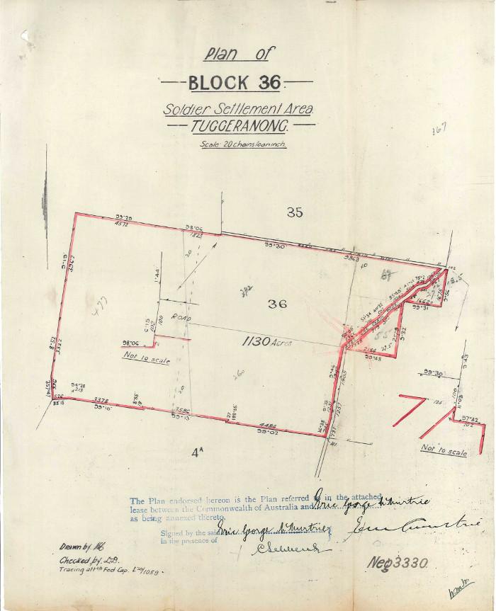 Plan of Stromlo Block 36