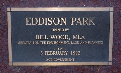Eddison Park plaque