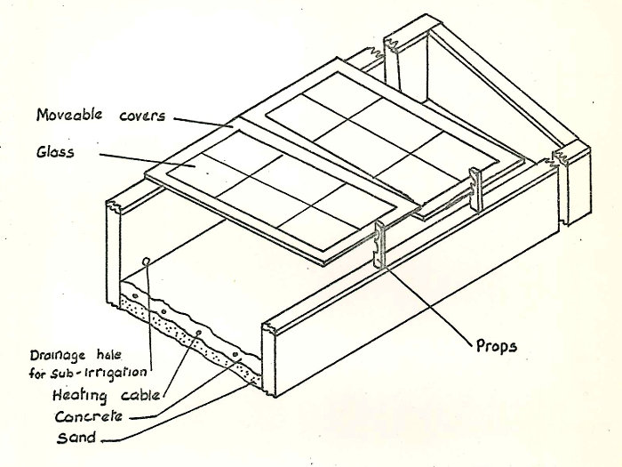 Fig 3: Section through cold frame