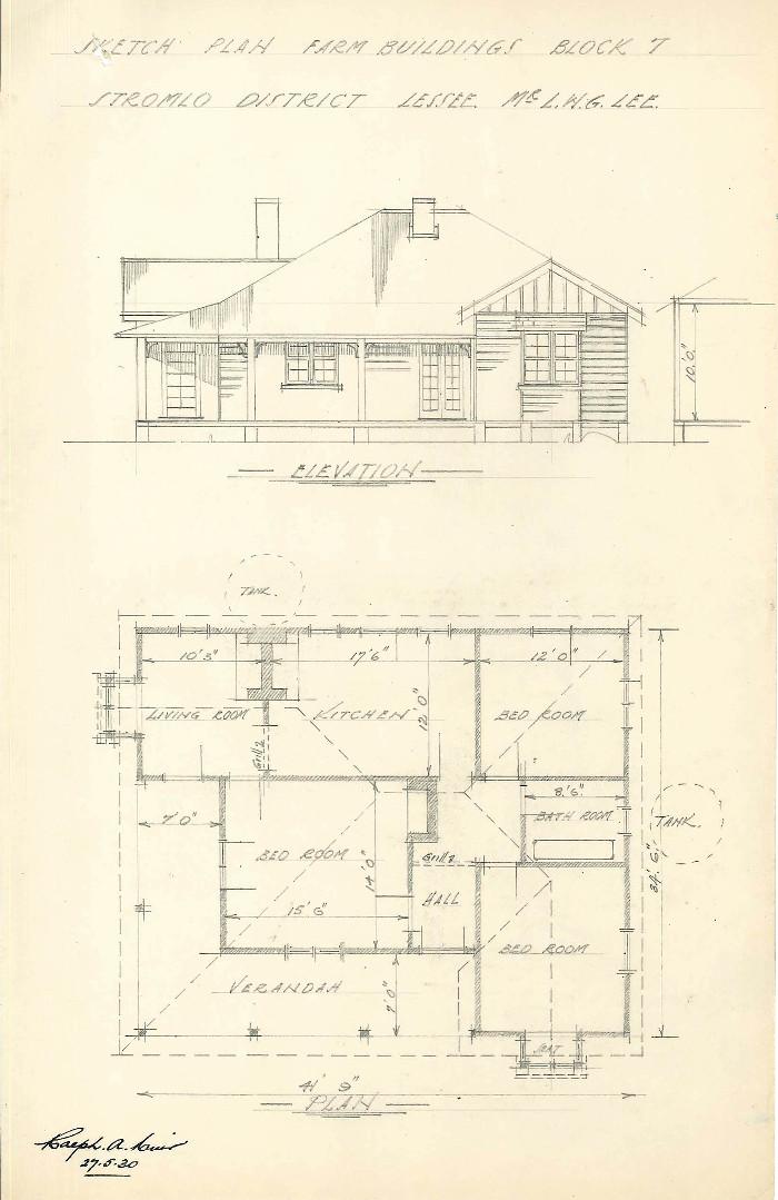 House plan for Stromlo Block 7