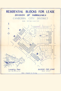 Map of Yarralumla residential blocks