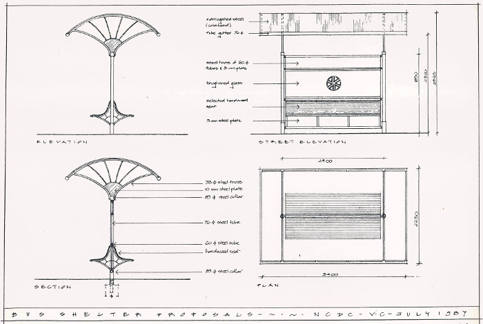 Plans for NCDC Bus Shelter Proposals - July 1987