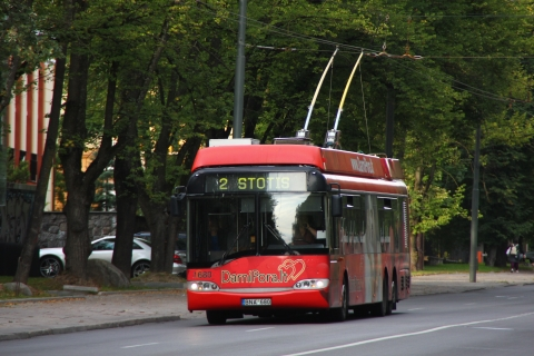 A trolley bus operating in 2008