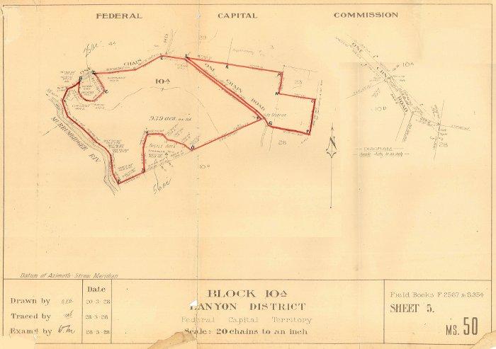 Plan of Lanyon Block 10A