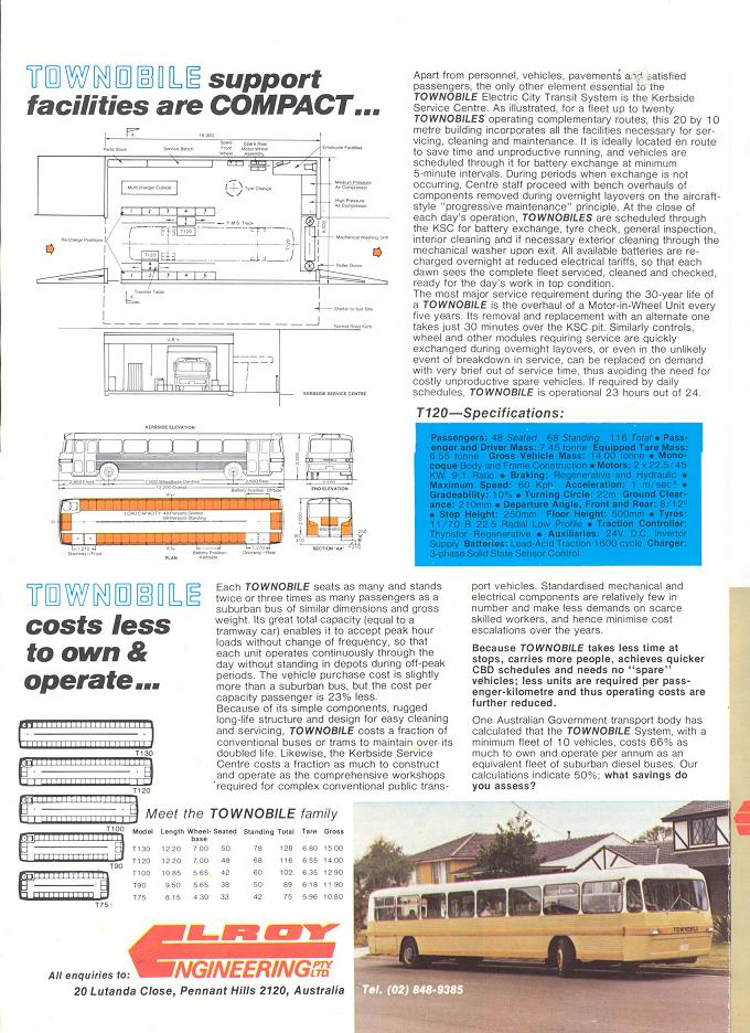 Townobile Electric City Transit System brochure - page 4
