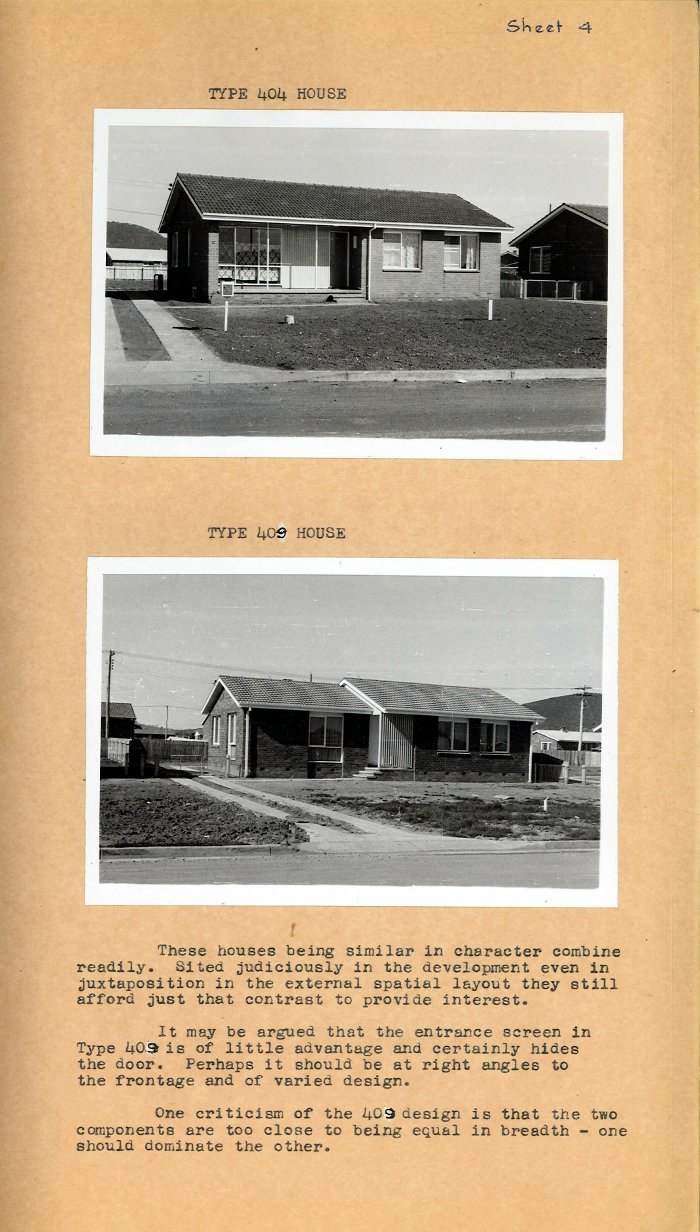 Housing Review 1961 - 400 Series Designs - Types 404 & 409 Houses
