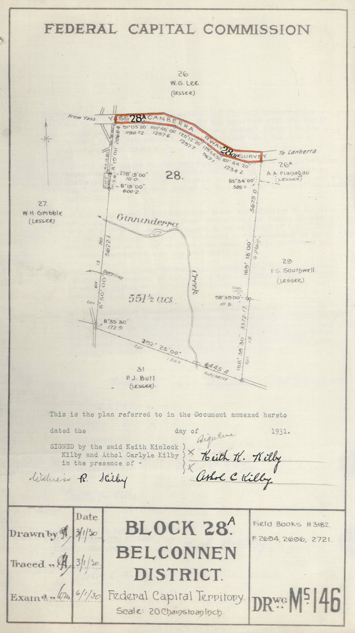 Plan of Belconnen Blocks 28 and 28A