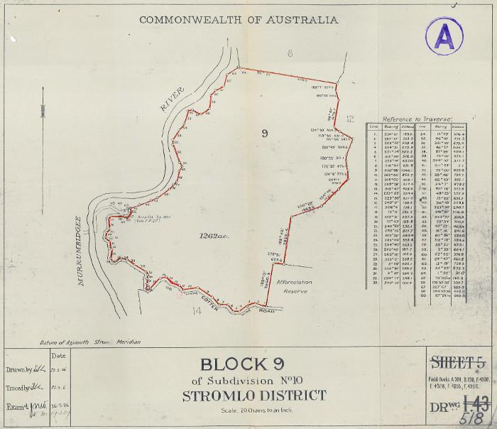 Plan of Stromlo Block 9