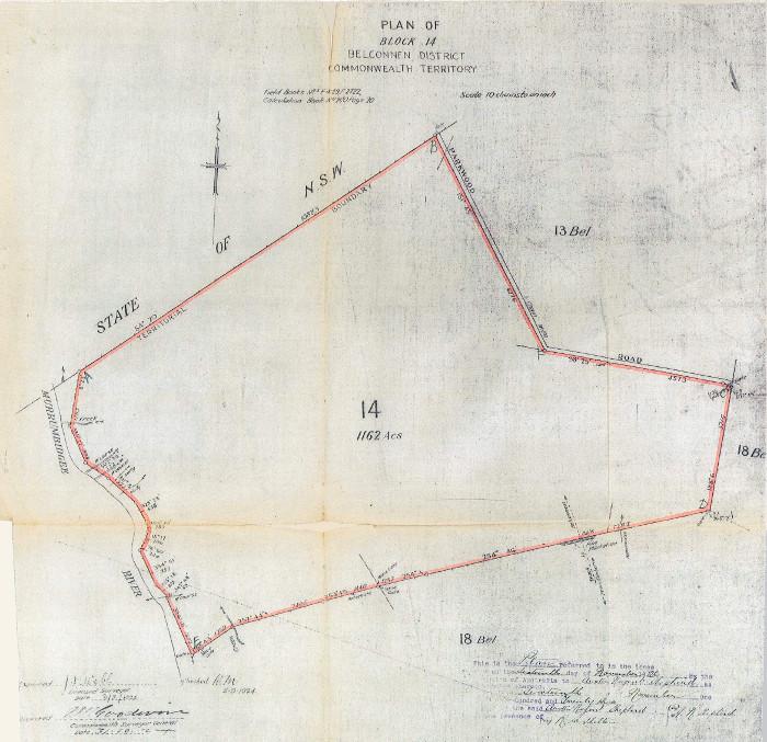 Plan of Belconnen Block 14