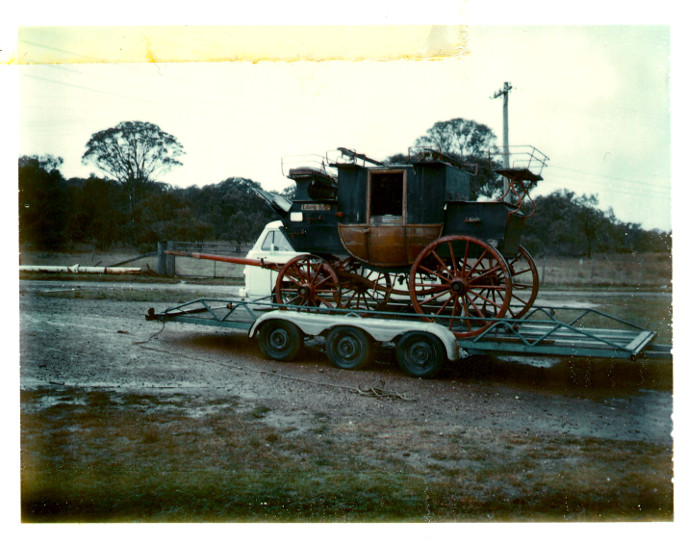 Ray Greenaway collecting his 1886 Liberty Belle Coach in 1977