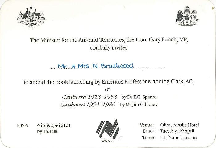 1988 invitation