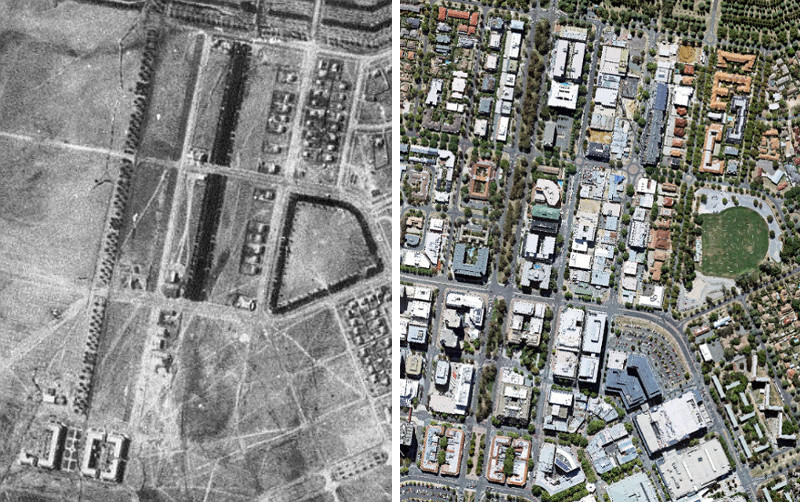 Braddon and City C1930 and 2016