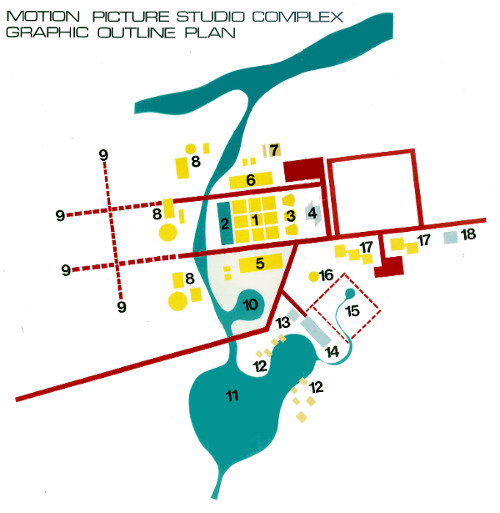 Initial 1981 site plan for Cable City Canberra