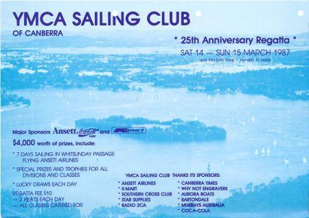 Handout for the 25th Anniversary Regatta