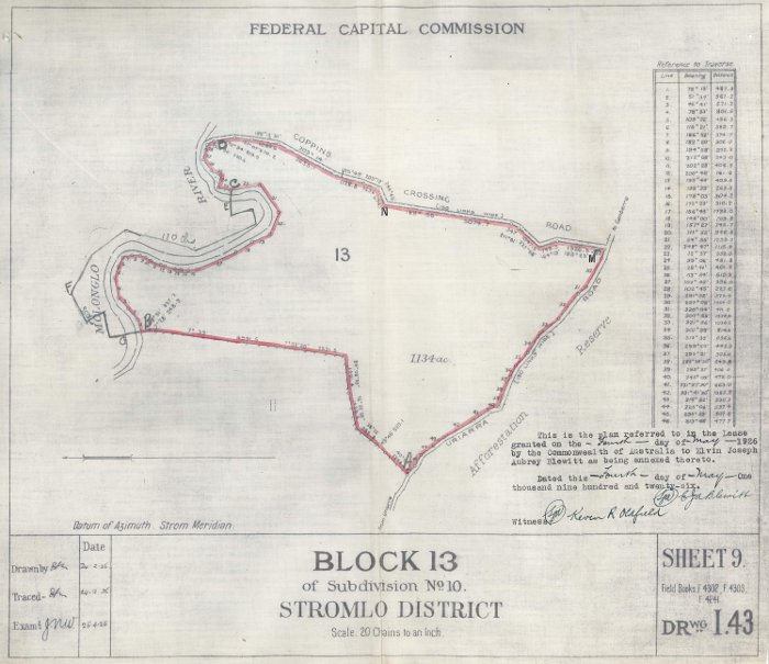Plan of Stromlo Block 13