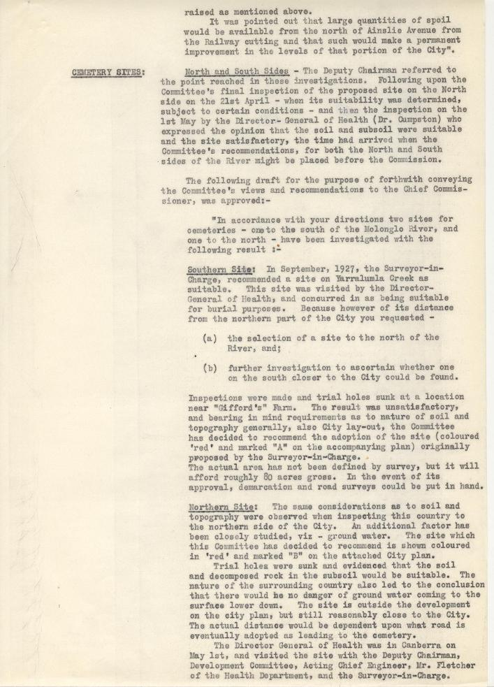 Federal Capital Commission Development Committee : Minutes of 15th General Meetiing - 09/05/1928 - page 7