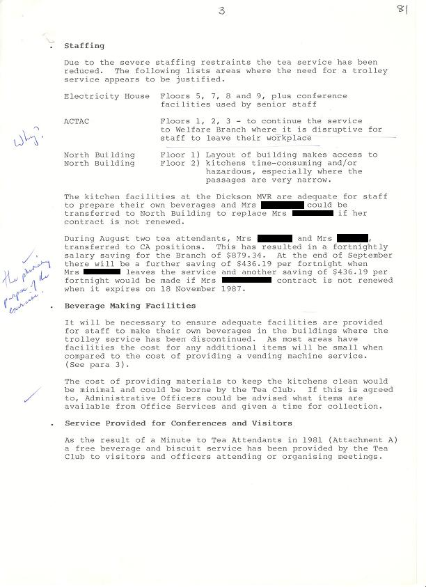 87-7646 - Support Services Branch - Tea Services Review 1987 - folio 81