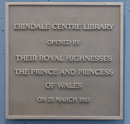 Erindale Library Opening Plaque