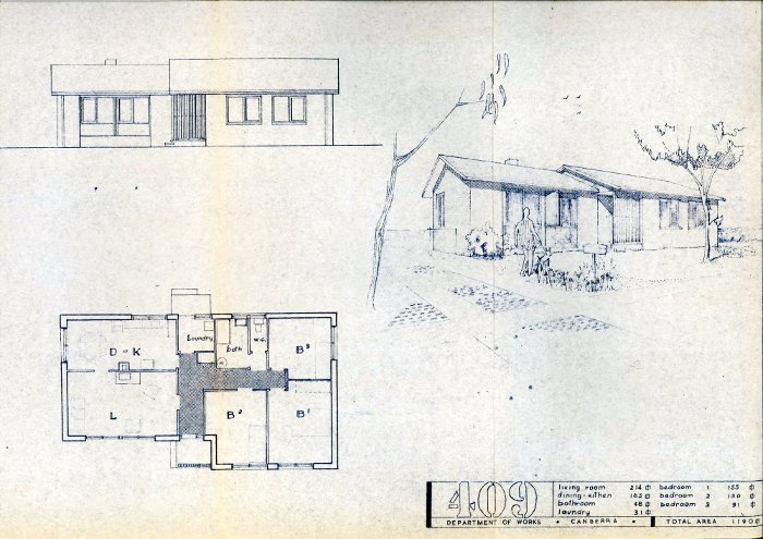 Housing Review 1961 - 400 Series Designs - Type 409 House Plan