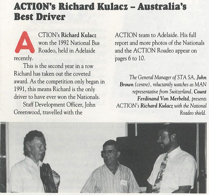 ACTION's Richard Kulzac - Australia's Best Driver