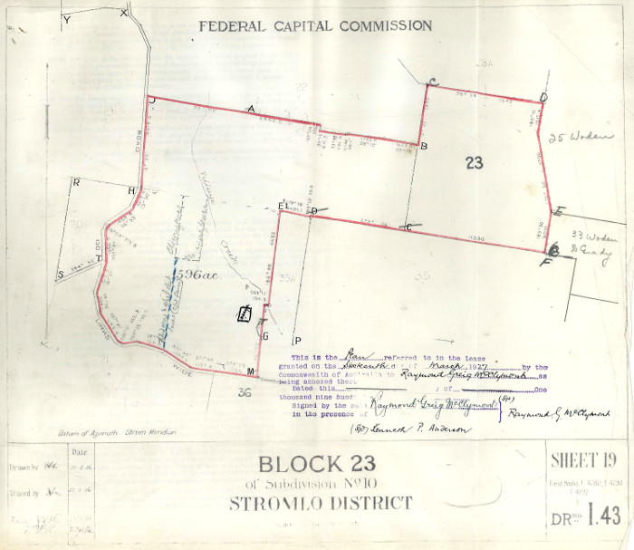 Plan of Stromlo Block 23