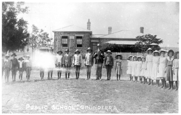 Ginninderra Public School in the early 1900s (Source:  AA1971)