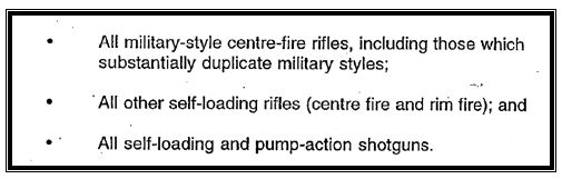 Extract from the Special Firearms Meeting 1996