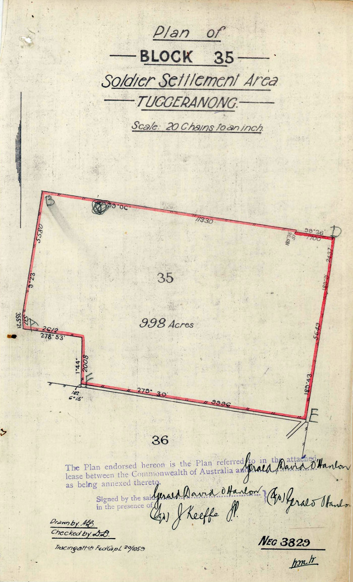 Plan of Stromlo Block 35