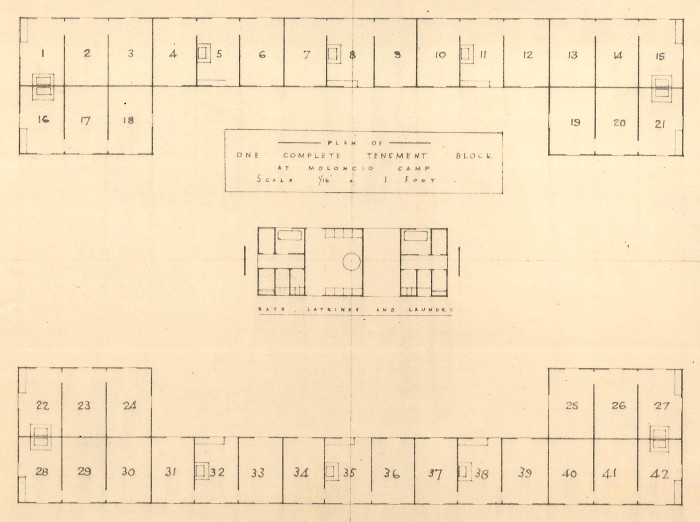 A plan of a tenement block