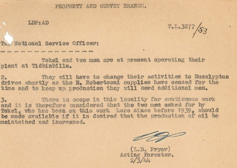 Letter requesting exemption to National Service for all three workers during the Second World War