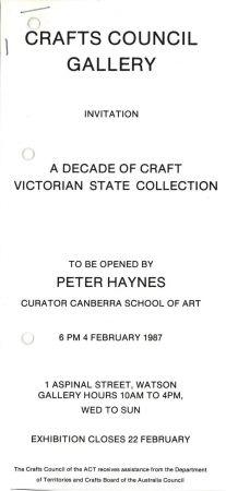 Flier for the Haynes Exhibit
